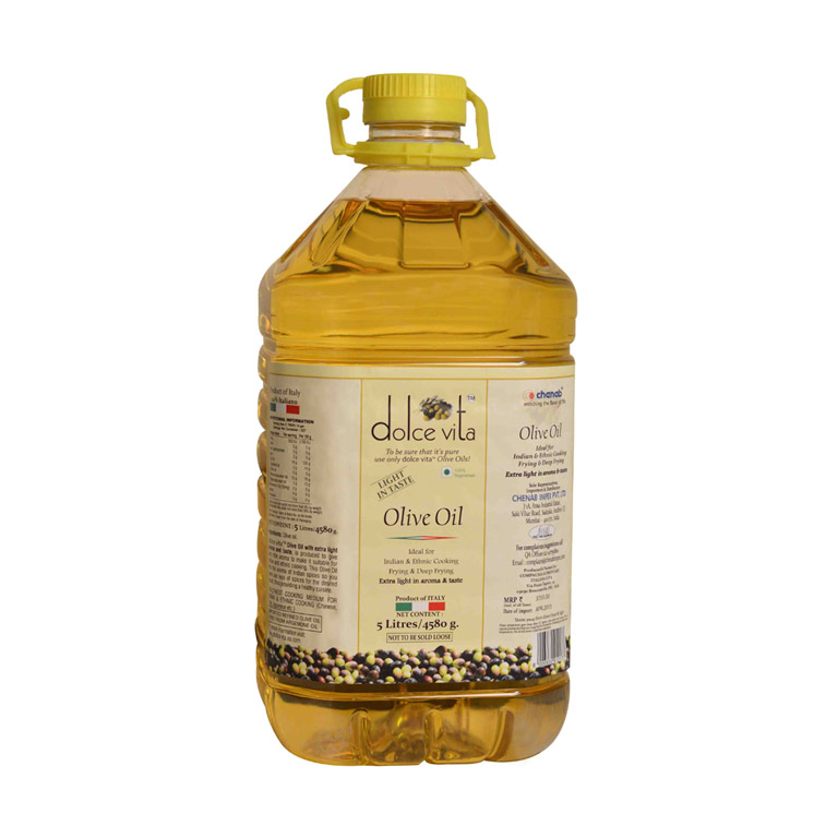 Dolce Vita Italian Extra Light Olive Oil 5liter from Italy in India