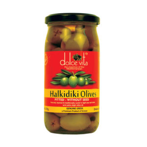 Dolce Vita Halkidiki Pitted Green Olives 210gm from Italy in India