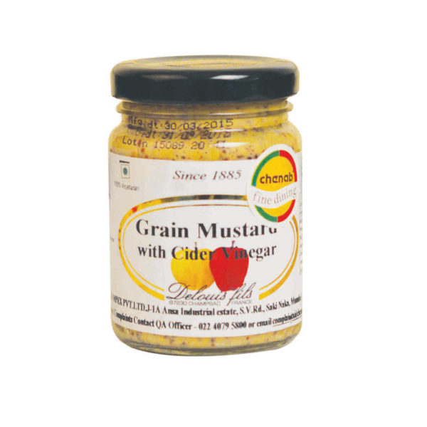 Imported French Cider Vinegar Grain Mustard from France in India