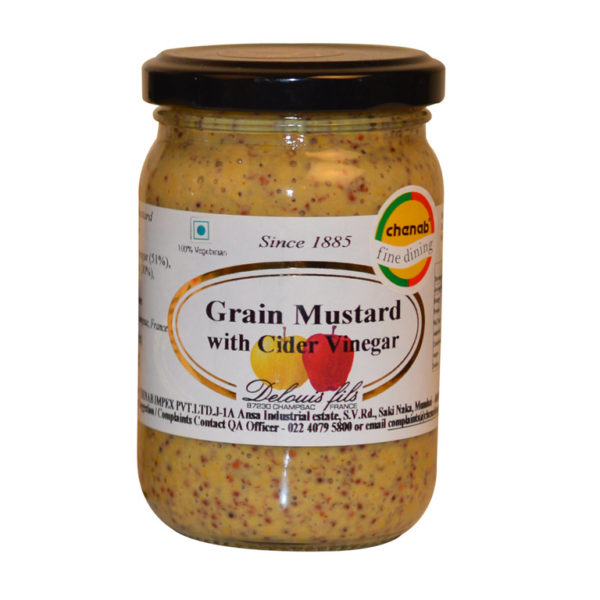 Imported French Grain Mustard with Cider Vinegar from France in India