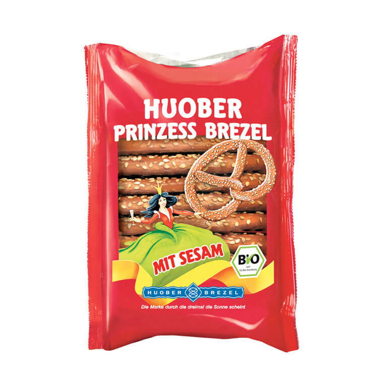 Organic Princess Pretzel with Sesame 125g – Huober