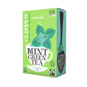 Clipper Green Tea with Mint Unbleached Bag 40gm from UK in India