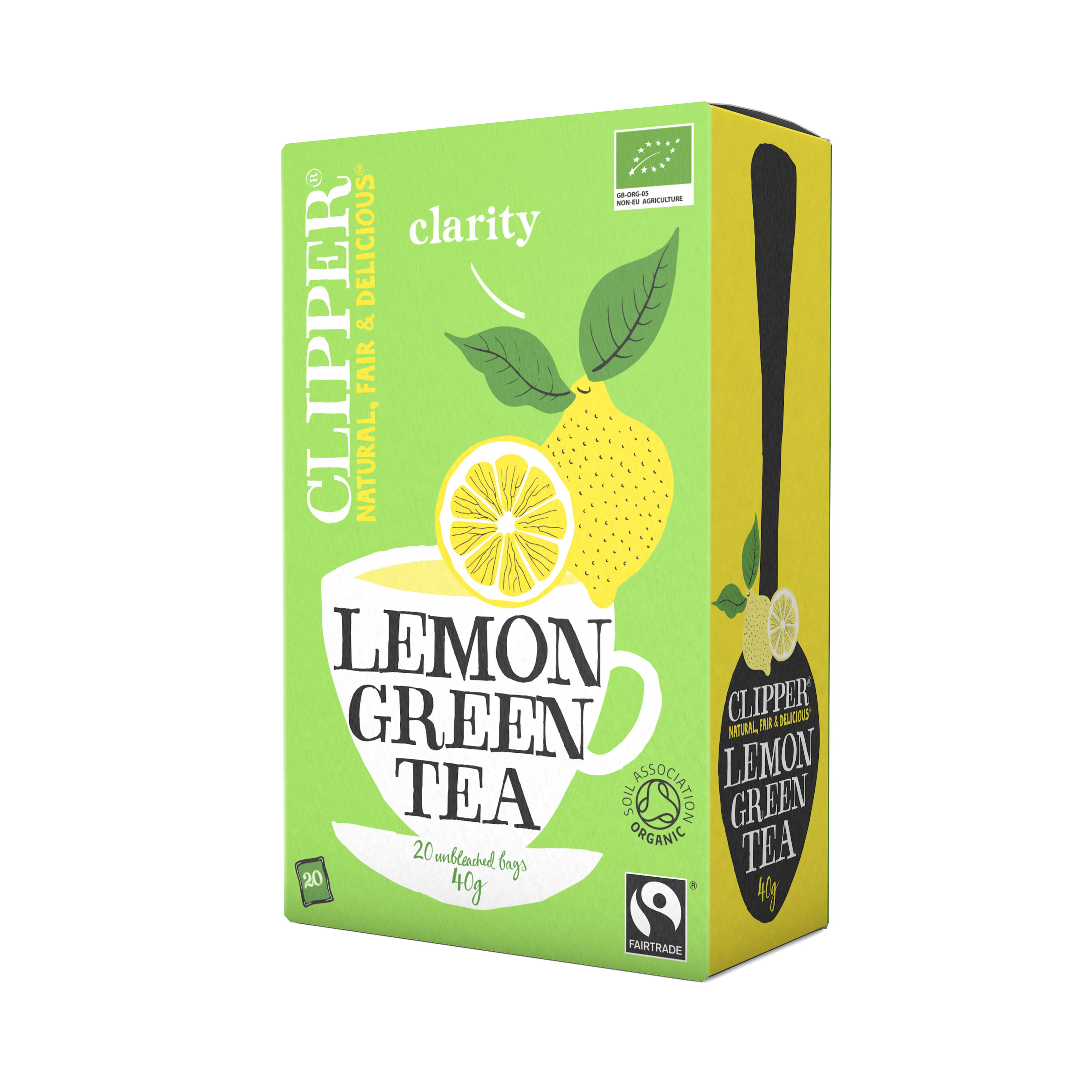 Clipper Green Tea with Lemon Unbleached Bag 40gm from UK in India