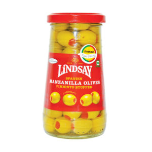 Lindsay Spanish Manzanila Stuffed Olives with Pimiento 163gm from Spain in India
