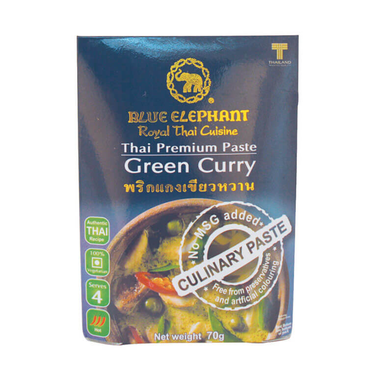 Thai Gluten Free Green Curry Paste 70g – Blue Elephant