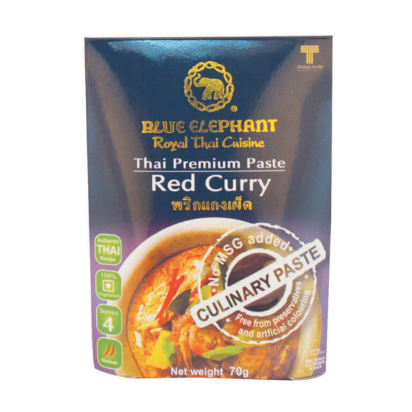Thai Gluten Free Red Curry Paste 70g – Blue Elephant