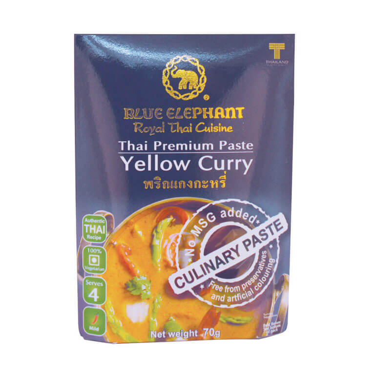 Thai Gluten Free Yellow Curry Paste 70g – Blue Elephant