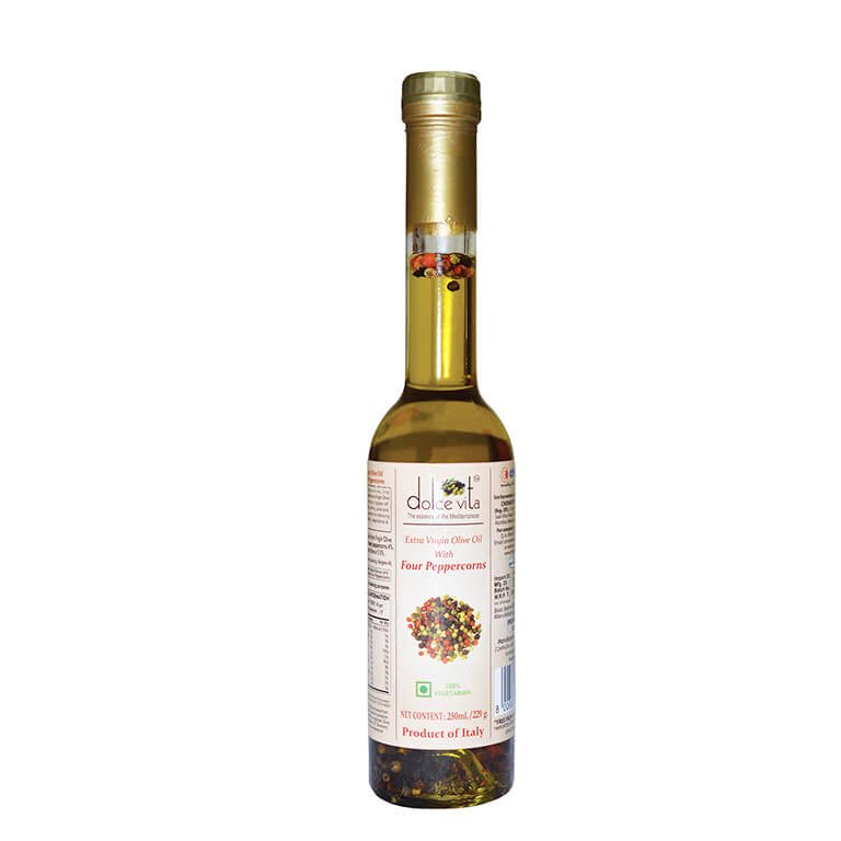 Flavored extra virgin olive oil with four Peppercorns 250ml – Dolce Vita