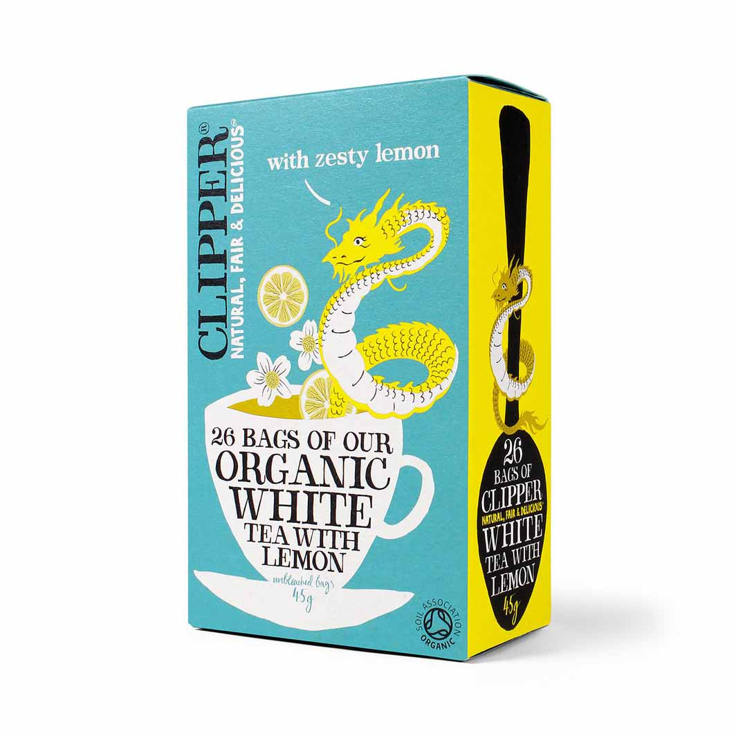 Clipper Organic Flavored White Tea 45gm from UK in India