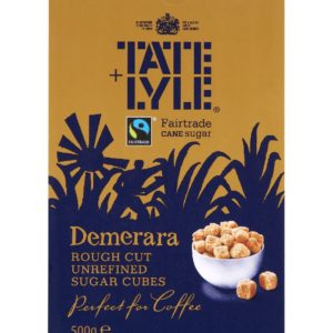 Tate & Lyle Fairtrate Demerara Rough Cut Sugar Cubes
