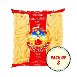 Pastificio Riscossa Canneroni Lisci Pasta, 500 Gms (Pack of 3)