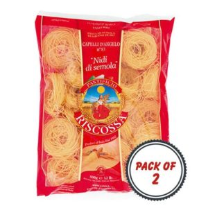 Pastificio Riscossa Capelli D'Angelo Pasta, 500 Gms (Pack of 2)