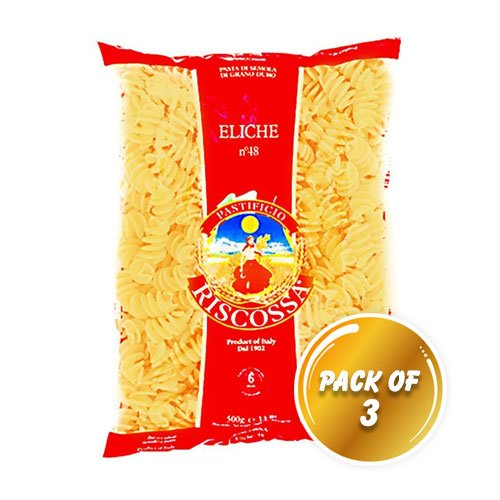 Pastificio Riscossa Eliche Pasta, 500 Gms (Pack of 3)