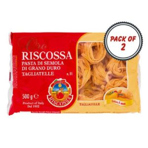 Pastificio Riscossa Tagliatelle Pasta, 500 Gms (Pack of 2)