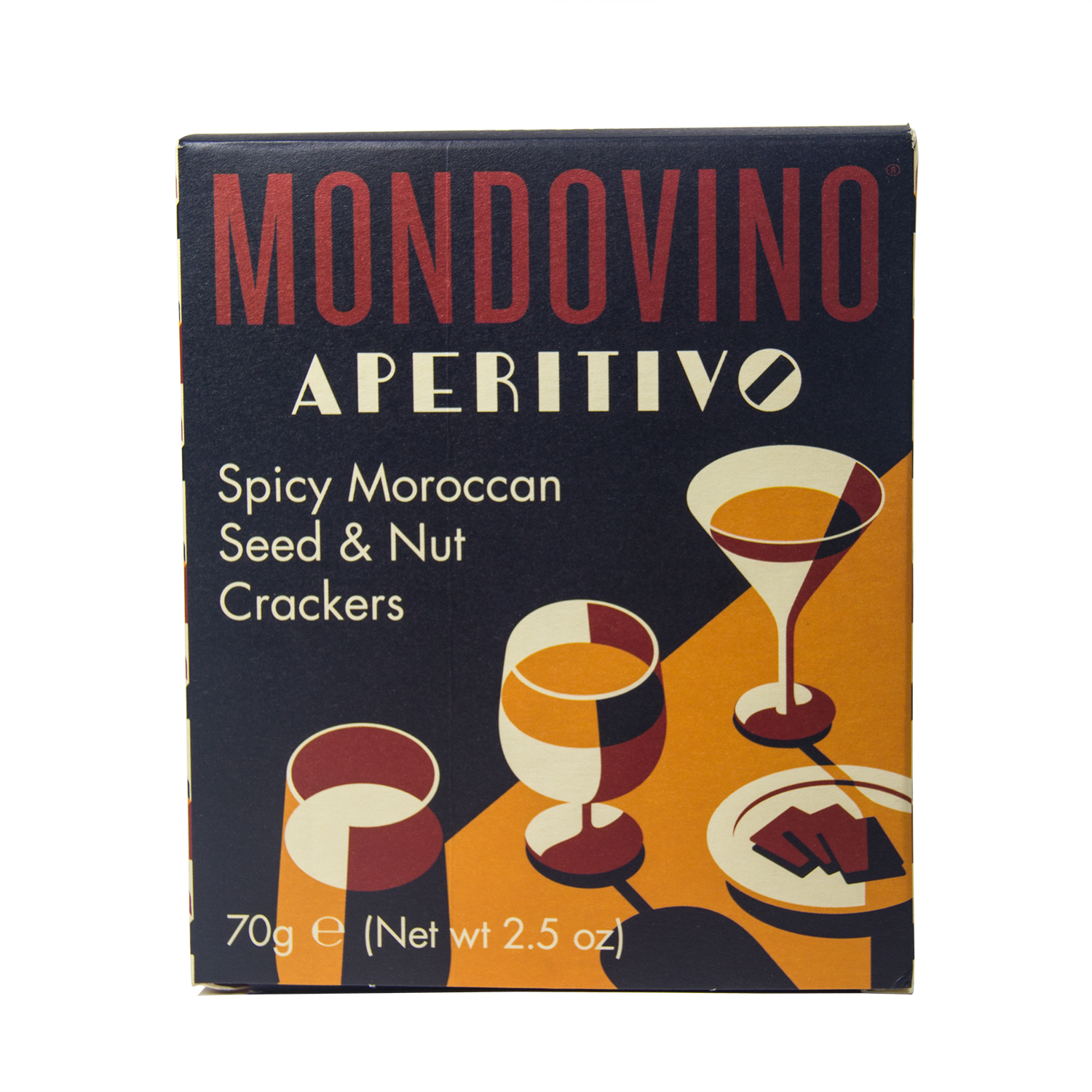 Mondovino Aperitivo Spicy Moroccan Seed And Nut Crackers, 70 Gms