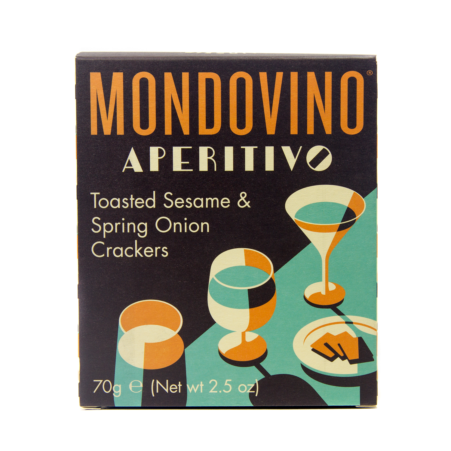 Mondovino Aperitivo Toasted Sesame And Spring Onion Crackers